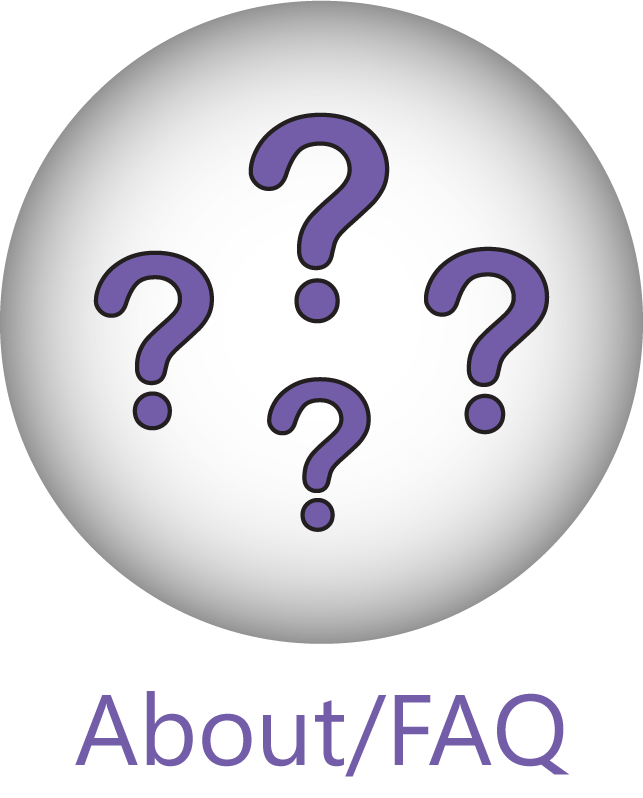 'About/FAQ' button with question mark icons.