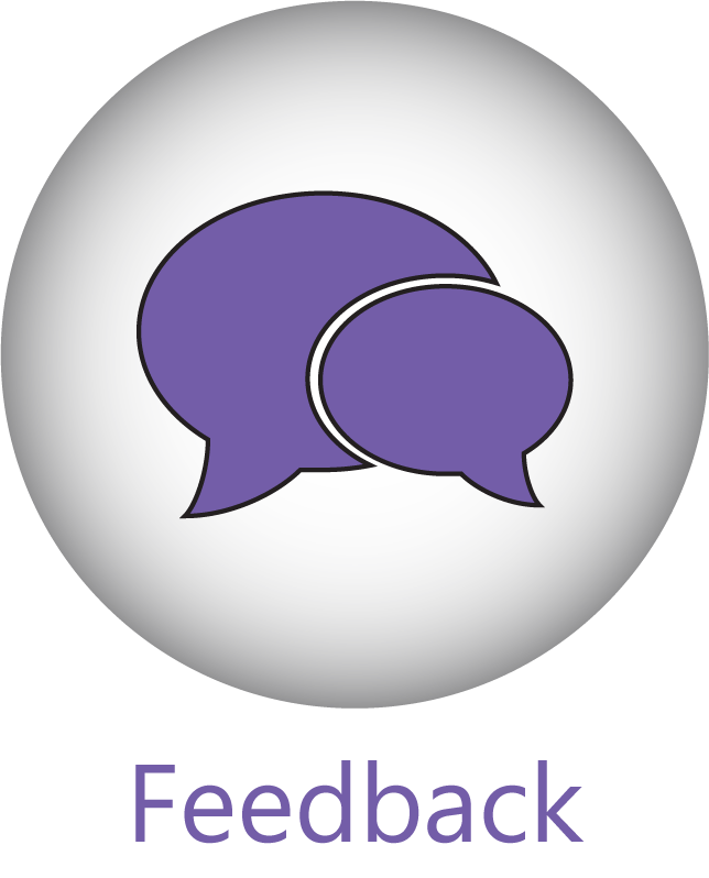 A 'Feedback' button with a chat bubble icon.