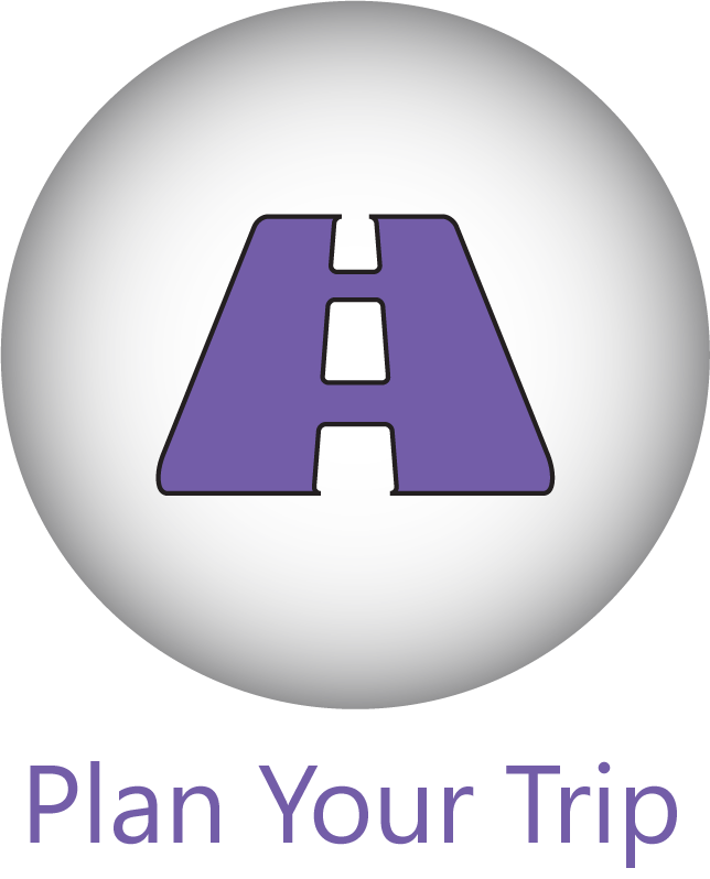 A 'Plan Your Trip' button with a road icon.